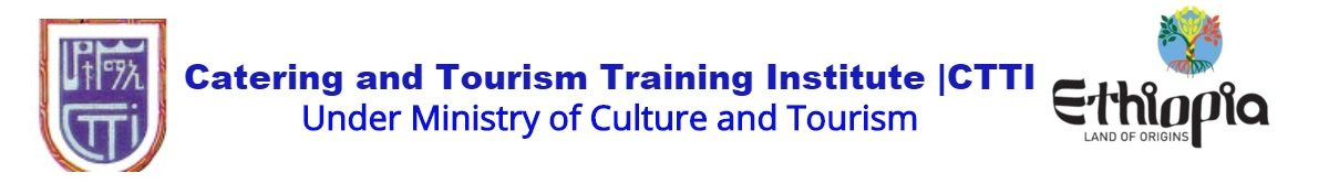Catering and Tourism Training Institute | CTTI
